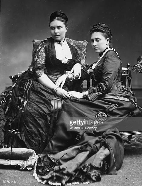 Princess Victoria Empress of Prussia and her sister Princess Beatrice of Battenberg two daughters of Queen Victoria