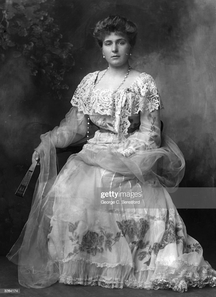 Princess Victoria Eugenie (Ena) of Battenberg, (1887 - 1969), a grand-daughter of Queen Victoria, before her marriage to King Alfonso XIII of Spain.