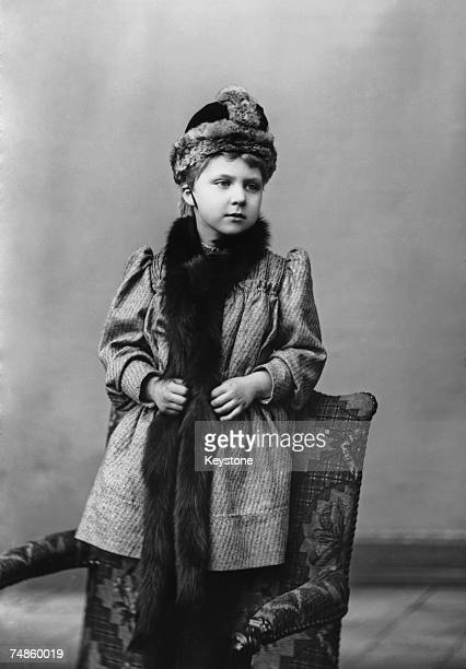 Princess Victoria Eugenie of Battenberg granddaughter of Queen Victoria circa 1892 She married King Alfonso XIII of Spain in 1906 and became...