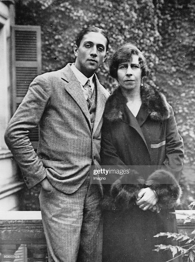 Princess Victoria Of Schaumburg-Lippe And Her Husband Alexander Zoubkoff. 4Th November 1929. Photograph. : News Photo