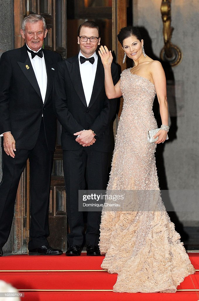 Princess Victoria of Sweden and fiance Daniel Westling attend the Government Gala Performance for the Wedding of Crown Princess Victoria of Sweden and Daniel Westling at Stockholm Concert Hall on June 18, 2010 in Stockholm, Sweden.