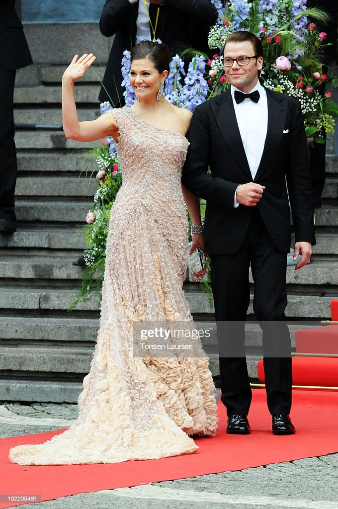 Princess Victoria of Sweden and fiance Daniel Westling attends the Government Gala Performance for the Wedding of Crown Princess Victoria of Sweden and Daniel Westling at Stockholm Concert Hall on June 18, 2010 in Stockholm, Sweden.
