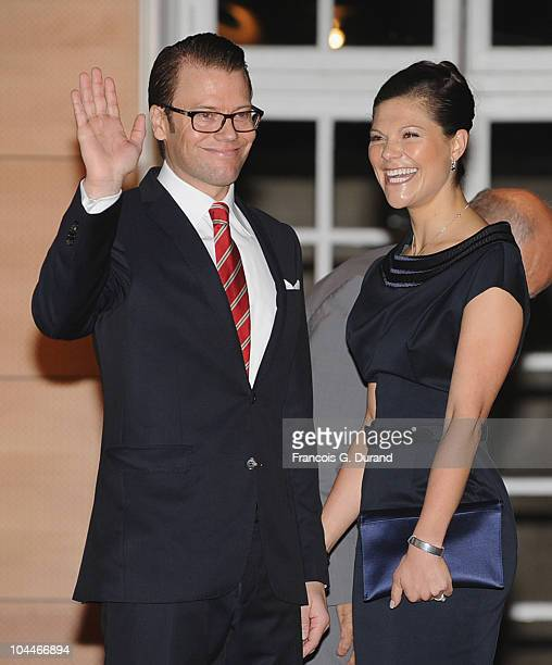 Princess Victoria of Sweden and Prince Daniel of Sweden arrive for a Reception at Swedish Institute during an official trip to France on September 26...