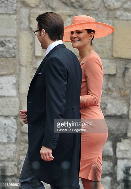 Princess Victoria of Sweden and Prince Daniel of Sweden arrive to attend the Royal Wedding of Prince William to Catherine Middleton at Westminster...