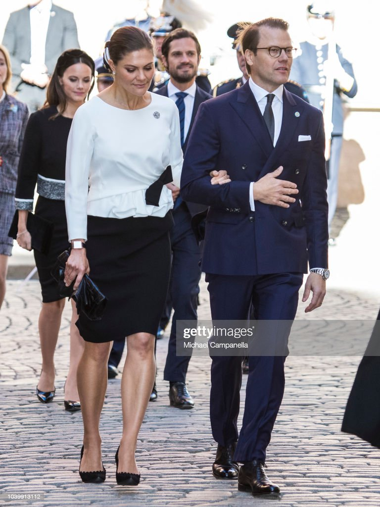 Swedish Royals Attend A Service In Connection with The Opening Of The Parliamentary Session