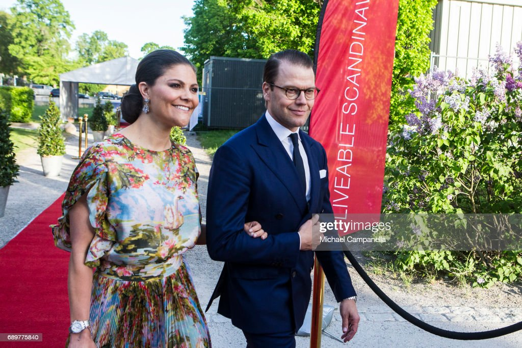 Princess Victoria of Sweden and Prince Daniel of Sweden attend an official dinner at Eric Ericssonhallen on May 29, 2017 in Stockholm, Sweden.