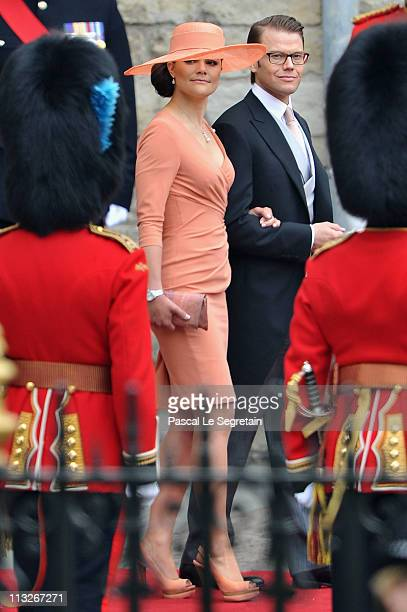 Princess Victoria of Sweden and Prince Daniel of Sweden leave the Abbey following the Royal Wedding of Prince William, Duke of Cambridge and...