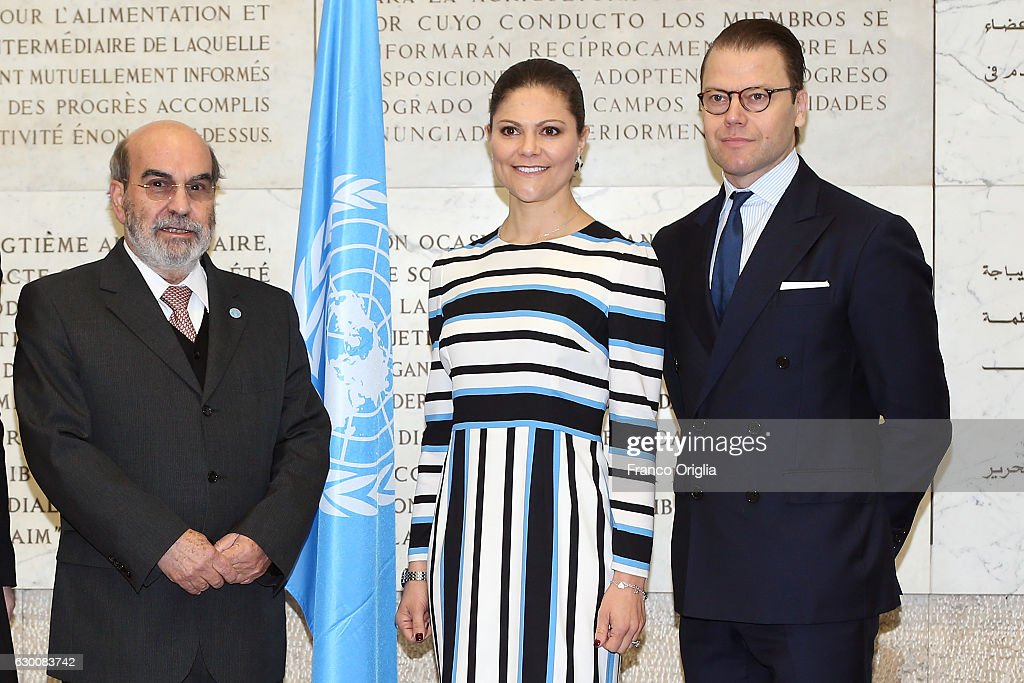 The Swedish Crown Couple and Minister Ekstrom meet FAO Director General Jose' Graziano da Silva
