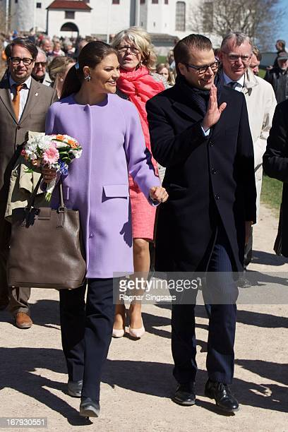 Princess Victoria of Sweden and Prince Daniel of Sweden visit Lacko castle in the Vastra Gotaland province on May 2 2013 in Lidkoping Sweden