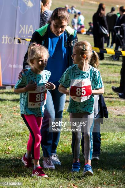 Physical trainers lead an exercise session during the Prince Daniels Race and Pep Day at Haga Park on September 16 2018 in Stockholm Sweden Prince...