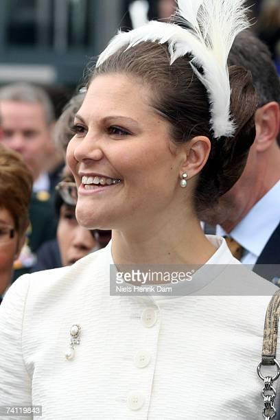 Princess Victoria of Sweden arrives at Field's Scandinavia's largest shopping centre on May 10 2007 in Copenhagen Denmark HRH King Carl XVI Gustaf of...