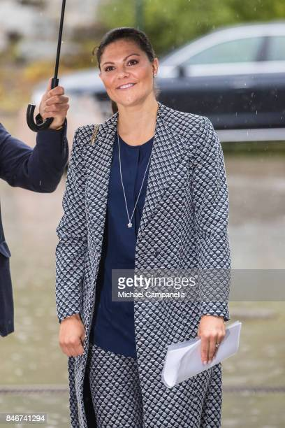 Princess Victoria of Sweden arrives at the 2017 Stockholm Security Conference at Artipelag on September 14 2017 in Stockholm Sweden