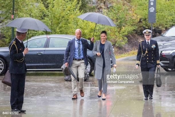 Princess Victoria of Sweden arrives at the 2017 Stockholm Security Conference at Artipelag on September 14 2017 in Stockholm Sweden