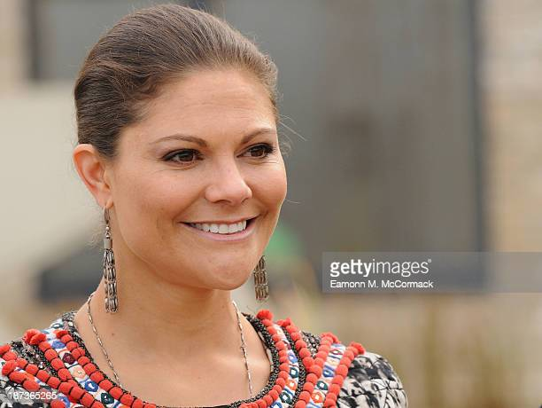 Princess Victoria of Sweden at Skanska Seven Acres housing development during an official visit on November 8 2013 in Cambridge Cambridgeshire