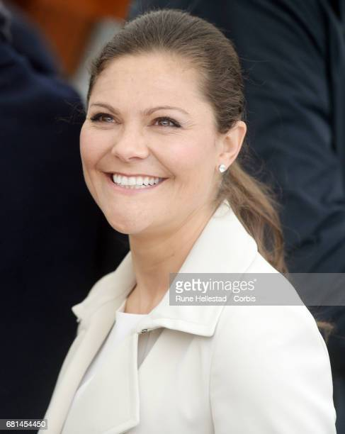 Princess Victoria of Sweden attends a luncheon on the Royal yacht Norge on the occasion of the celebration of King Harald and Queen Sonja of Norway...