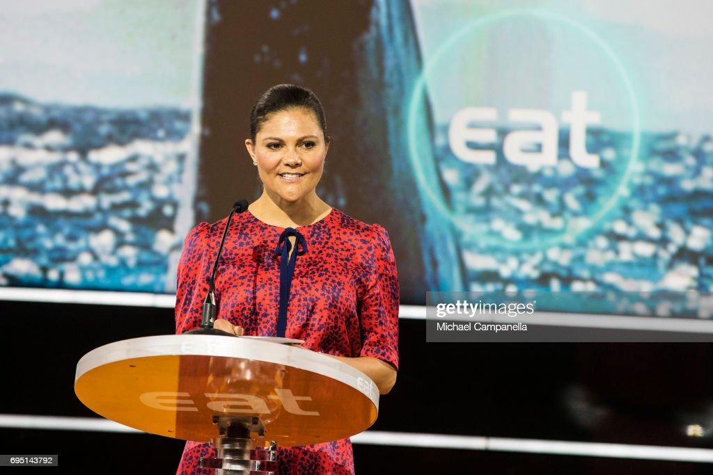 Princess Victoria of Sweden attends EAT Stockholm Food Forum at the Clarion Hotel Sign on June 12, 2017 in Stockholm, Sweden.