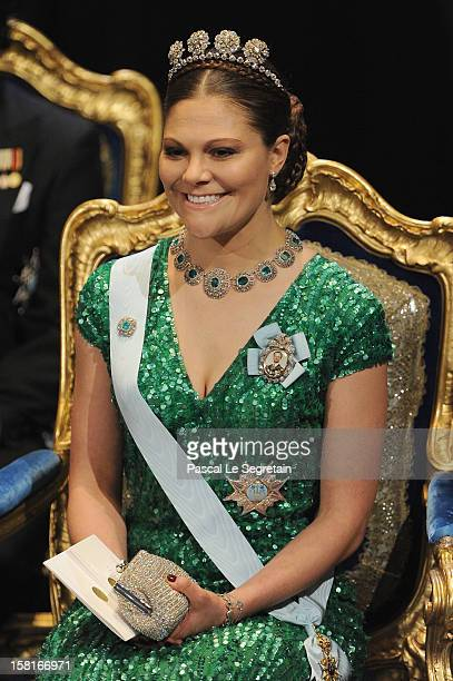 Princess Victoria of Sweden attends the 2012 Nobel Prize Award Ceremony at Concert Hall on December 10 2012 in Stockholm Sweden