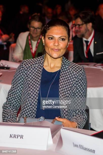 Princess Victoria of Sweden attends the 2017 Stockholm Security Conference at Artipelag on September 14 2017 in Stockholm Sweden