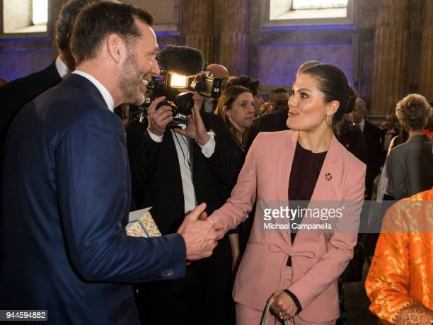 Princess Victoria of Sweden attends the Global Child Forum 2018 at the Stockholm Palace on April 11 2018 in Stockholm Sweden