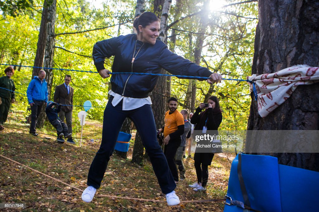 Princess Victoria of Sweden attends the Swedish Outdoor Associations 125th anniversary celebrations at Haga Park on October 4, 2017 in Stockholm, Sweden.