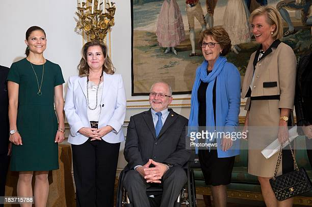 Princess Victoria of Sweden Duchess Maria Teresa of Luxembourg IPC President Sir Philip Craven Princess Margriet of Netherlands and Princess Astrid...