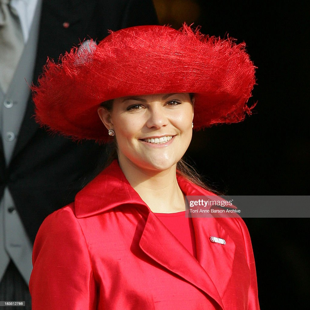 Princess Victoria of Sweden during Monaco's National Day & Prince Albert II's Coronation - Cathedral at Cathedral in Monaco, Monaco.