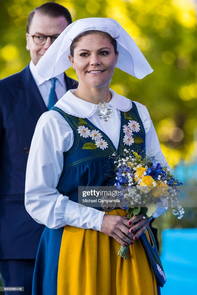 Princess Victoria of Sweden during the national day celebrations at Skansen on June 6, 2017 in Stockholm, Sweden.