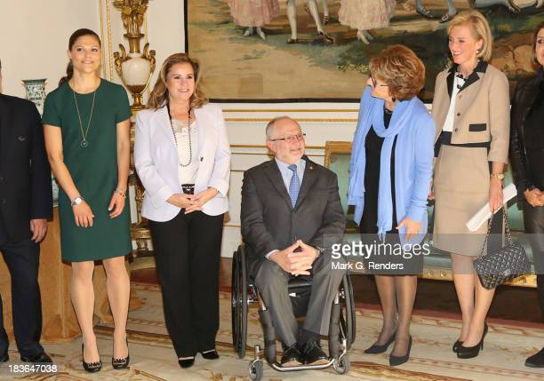 Princess Victoria of Sweden Grand Duchess Maria Teresa of Luxembourg Sir Philip Craven Princess Margriet of The Netherlands and Princess Astrid of...