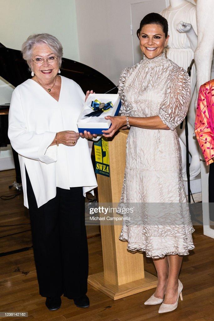 Crown Princess Victoria Receives Swedish Woman of the Year 2021 Award From SWEA International : News Photo