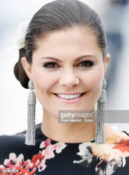 Princess Victoria of Sweden is seen arriving at the Opera House on the occasion of the celebration of King Harald and Queen Sonja of Norway 80th...