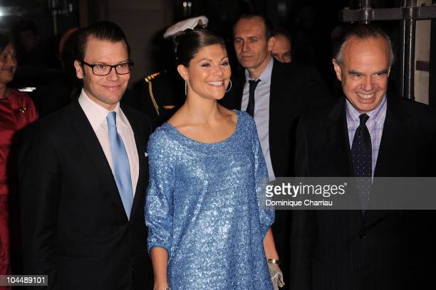 Princess Victoria of Sweden Prince Daniel of Sweden and French Minister of Culture Frederic Mitterrand attends the Dinner at French Ministry of...