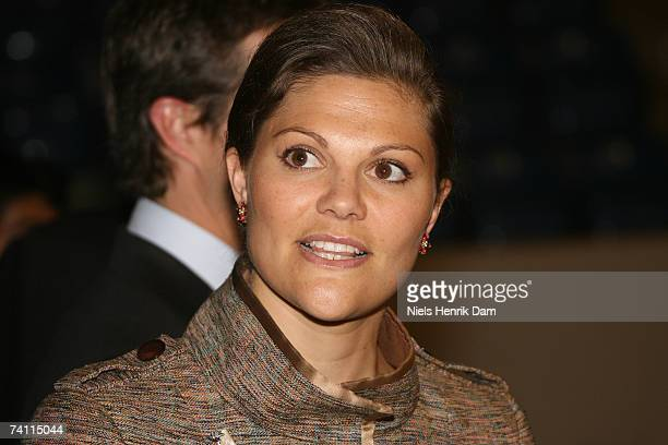 Princess Victoria of Sweden visits the Sports Centre at Bronby in Copenhagen Denmark on May 9 2007 King Carl XVI Gustaf Queen Silvia and Crown...