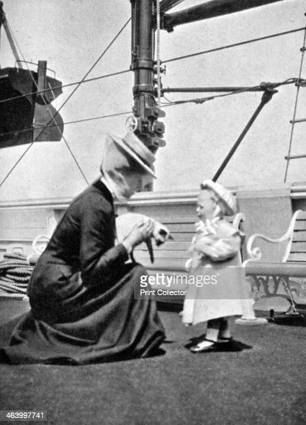 Princess Victoria with Prince Olav the future King Olav V of Norway 1908 From Queen Alexandra's Christmas Gift Book Photographs from My Camera by...