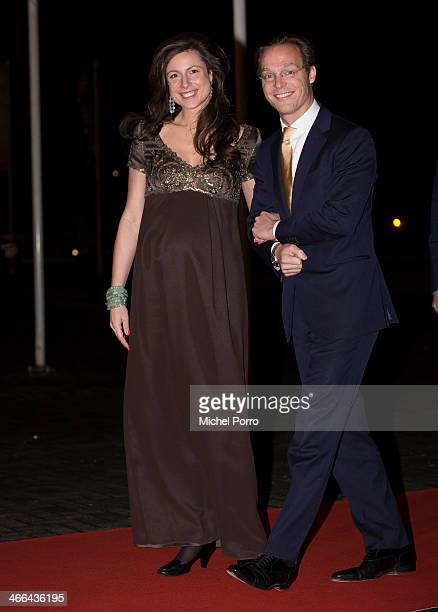 Princess Viktoria and Prince Jaime de Bourbon de Parme attend a celebration of the reign of Princess Beatrix on February 1 2014 in Rotterdam...