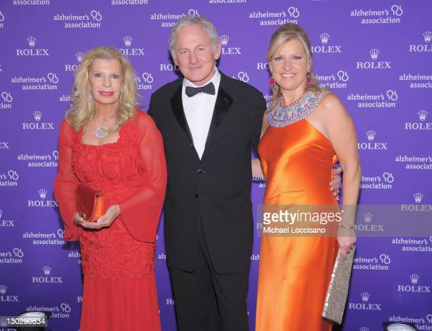 Princess Yasmin Aga Khan actor Victor Garber and Mindy Grossman attend the 2011 Rita Hayworth Gala at The Waldorf=Astoria on October 25 2011 in New...