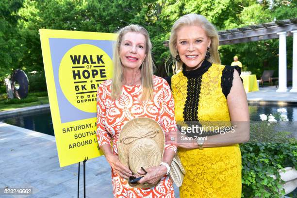 Princess Yasmin Aga Khan and Audrey Gruss attend Kickoff for Second Annual Walk of Hope 5K Run at Fairwind on July 21 2017 in Southampton New York