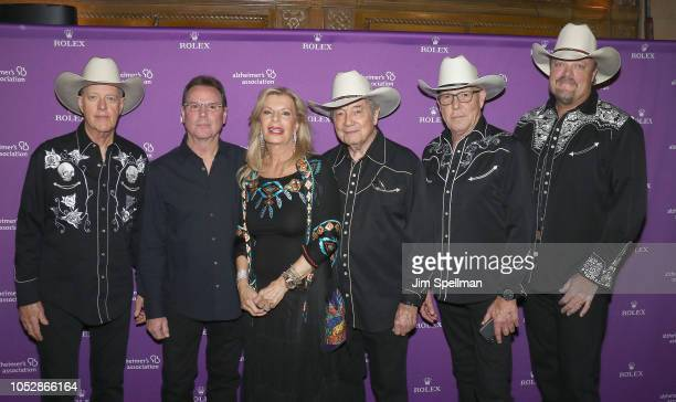 Princess Yasmin Aga Khan and the California Cowboys attend the 35th Annual Alzheimer's Association Rita Hayworth Gala at Cipriani 42nd Street on...