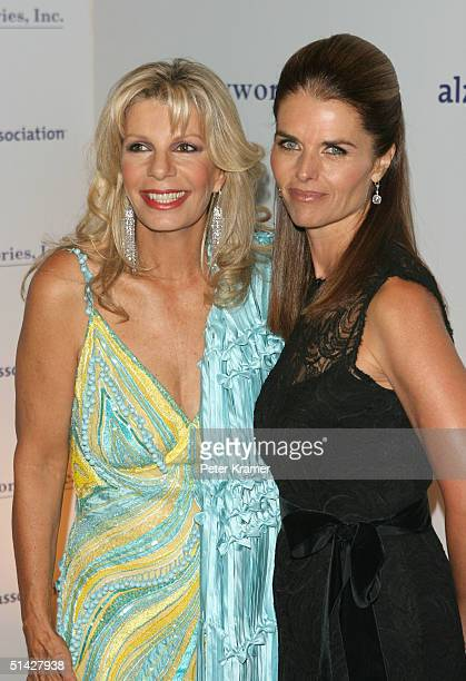 Princess Yasmin Aga Khan and TV personality Maria Shriver attend The 20th Anniversary Alzheimer's Association Rita Hayworth Gala on October 5 2004 in...