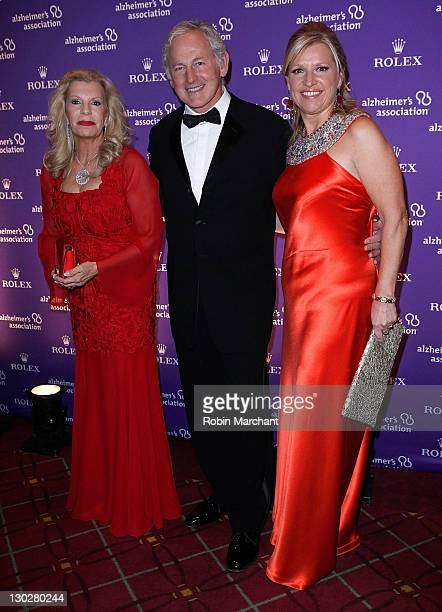 Princess Yasmin Aga Khan Victor Garber and Mindy Grossman attend the 2011 Rita Hayworth Gala at The Waldorf=Astoria on October 25 2011 in New York...