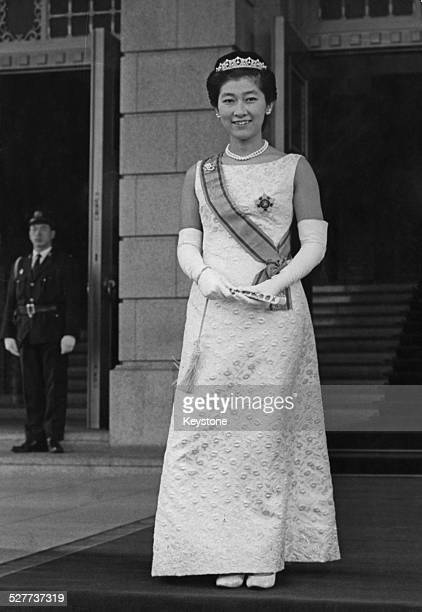 Princess Yasuko daughter of Prince and Princess Mikasa of Japan arrives at the Imperial Palace in Tokyo for a prewedding reception 17th December 1966...