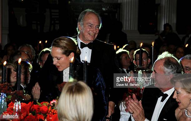 Princess Zahra Aga Khan and Aga Khan attends the Cartier Racing Awards 2008 at the Grosvenor House Hotel on November 17 2008 in London England