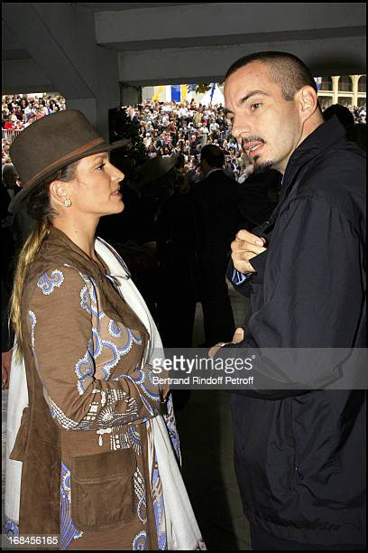 Princess Zahra Aga Khan and brother 85th race of the Arc De Triomphe 2006 at the Longchamp racecourse
