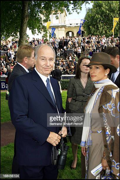Princess Zahra Aga Khan and Prince Karim Aga Khan 85th race of the Arc De Triomphe 2006 at the Longchamp racecourse