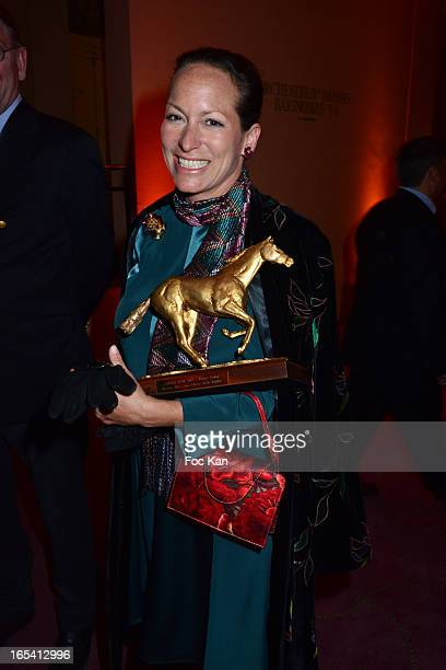 Princess Zahra Aga Khan attends the 'Cravaches D'Or' Awards 2013 At Theatre des Champs Elysees In Paris on April 3 2013 in Paris France