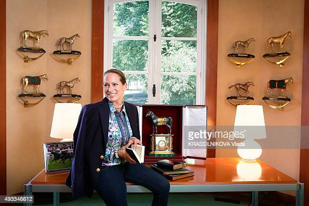 Princess Zahra Aga Khan in her office at her horses training center in Chantilly on September 9 2015