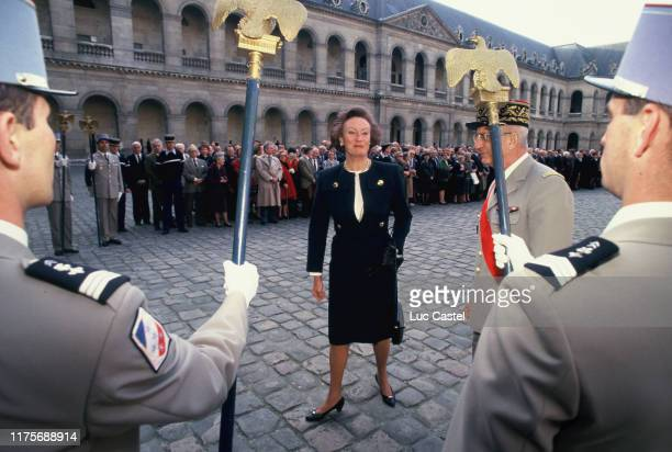 Princesse Alix Napoleon attends the mass given in memory of the emperor Napoleon at Les Invalides on may 05 1993 in Paris France