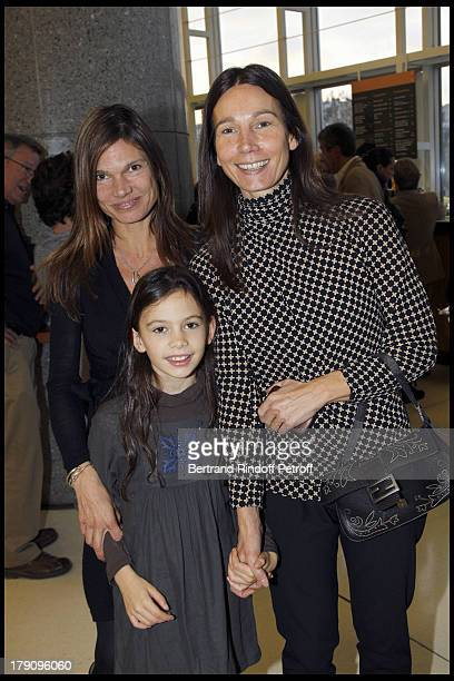 Princesse Ariane Poniatowski with sister and niece at The Reve D'Enfants Matinee Performance Of Swan Lake At The Opera Bastille Featuring Rudolf...