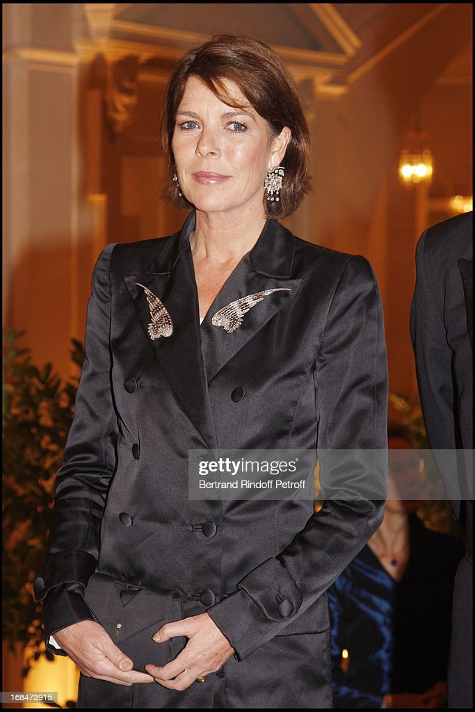 Princesse Caroline De Hanovre at Private View Of The Exhibition Quand Versailles Etait Meuble D' Argent (When Versailles Was Furnished With Silver) At Chateau De Versailles .