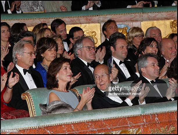 Princesse Caroline De Hanovre Monaco Valery Giscard D'Estaing Sir Peter Wesmacott and wife Lady Suzy Madame Jean Pastorelli Olivier Christine Orban...