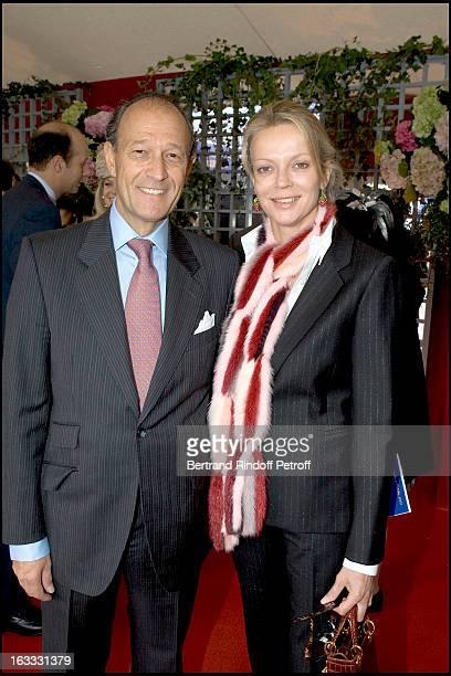 Princesse Helene De Yougoslavie and husband Thierry Gaubert at The 84th Prix De L' Arc De Triomphe In 2005 At The L' Hippodrome De Longchamp In Paris